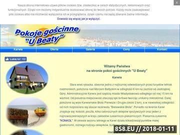 Zrzut strony Pokoje U Beaty Karwia - pokoje, apartamenty nad morzem