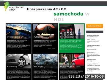Zrzut strony Ubezpieczenia OC i AC w HDI