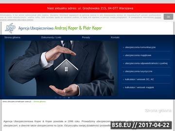 Zrzut strony A.P. Koper - gwarancje ubezpieczeniowe