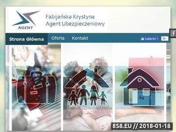 Zrzut strony Fabijańska- agent ubezpieczeniowy