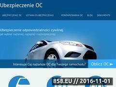 Miniaturka domeny ubezpieczenie-oc.info