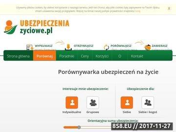 Zrzut strony Ubezpieczeniezycia.com.pl - najlepsze ubezpieczenie