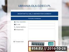 Miniaturka domeny www.ubrania-dla-dzieci.pl
