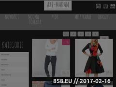 Miniaturka domeny ubrania.art-madam.pl
