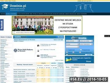 Zrzut strony Oferta studiów we Wrocławiu