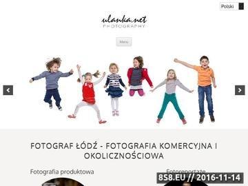 Zrzut strony Ulanka Fotograf Łódź