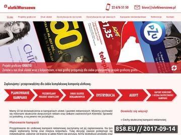 Zrzut strony Roznoszenie ulotek na terenie Warszawy i okolic