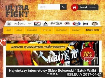 Zrzut strony Sklep sztuki walk Siedlce Ultrafight