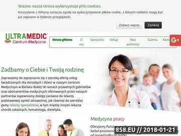 Zrzut strony Ultramedic - badania lekarskie