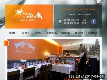Zrzut strony Restauracja Poznań - U mnie czy u Ciebie