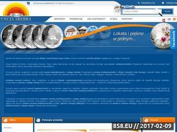 Zrzut strony Monety zagraniczne w Uncja-srebra.pl