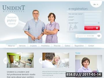 Zrzut strony Dentysta Kraków