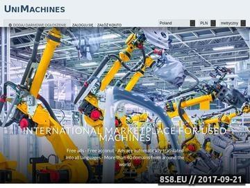 Zrzut strony UniMachines - giełda maszyn