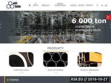 Zrzut strony UNITUBE kształtowniki zamknięte