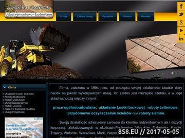 Zrzut strony Usługi budowlane, remontowe oraz kanalizacyjne - Zbigniew Czaplicki