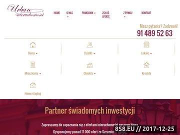 Zrzut strony Urban Nieruchomości Szczecin