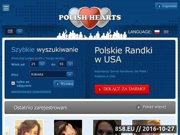 Zrzut strony PolishHearts USA