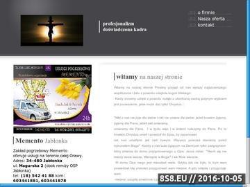 Zrzut strony Dom pogrzebowy Memento w Jabłonce