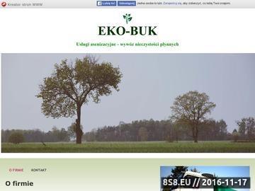 Zrzut strony Wywóz szamba Eko-Buk