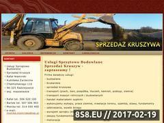 Miniaturka domeny www.uslugi-sprzetowo-budowlane.pl