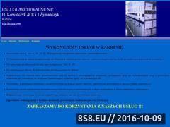 Miniaturka domeny uslugiarchiwalnekielce.strefa.pl