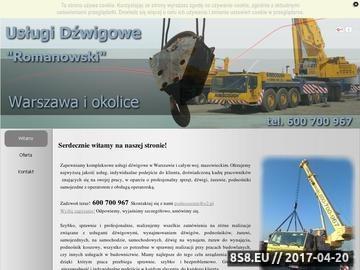 Zrzut strony Samojezdne Dźwigi Podnośniki Warszawa