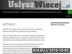 Miniaturka Profesjonalne podsłuchy: UKF, kwarcowe, GSM (uslyszwiecej.pl)