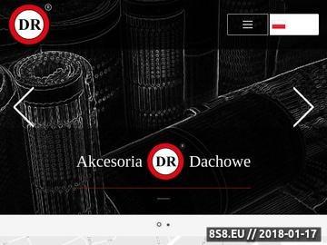 Zrzut strony Akcesoria dachowe DR, produkcja dystrybucja