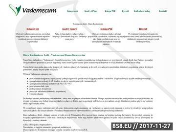 Zrzut strony Firma oferuje usługi księgowo-rachunkowe, kadry i płace