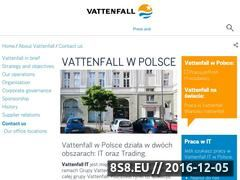 Miniaturka domeny www.vattenfall.pl