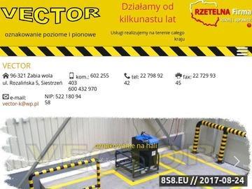Zrzut strony Oznakowania poziome