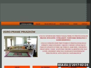 Zrzut strony Veiro Pruszków - pranie dywanów, wykładzin, tapicerki meblowej i samochodowej