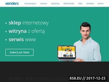 Zrzut strony Vendero - sklep internetowy dla Subiekta, firmowy serwis WWW - witryna
