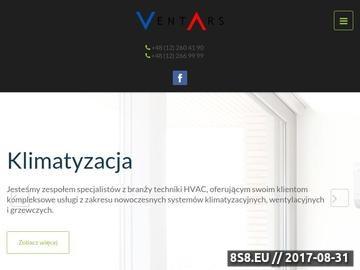 Zrzut strony Ventars - klimatyzacja i wentylacja