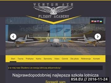 Zrzut strony Szkoła lotnicza w Warszawie