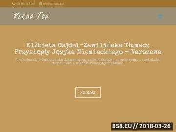 Zrzut strony Tłumacz niemieckiego Elżbieta z kwalifikacjami z miasta Warszawa