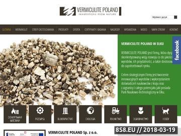 Zrzut strony Wermikulit - VERMICULITE POLAND - innowacje z natury
