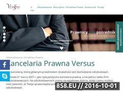Miniaturka domeny www.versus-odszkodowania.pl