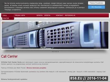 Zrzut strony Systemy Call Center