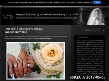 Zrzut strony Fotograf Bydgoszcz Wideofilmowanie Bydgoszcz VIFO.COM.PL