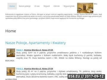 Zrzut strony VILLA KOBRANOCKA, Krynica Morska - ul. Nowa 27/29