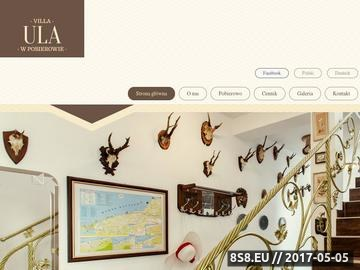 Zrzut strony Villa Ula - dom gościnny w pobierowie
