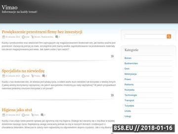 Zrzut strony Portal informacyjny Vimao.pl