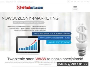 Zrzut strony Agencja Interaktywna Virtualnetia