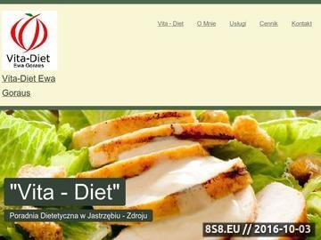 Zrzut strony Poradnia Dietetyczna Vita-Diet Ewa Goraus