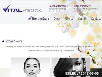 Zrzut strony Dermatologia VITAL MEDICA