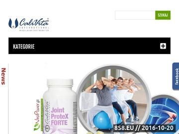 Zrzut strony Produkty Calivita
