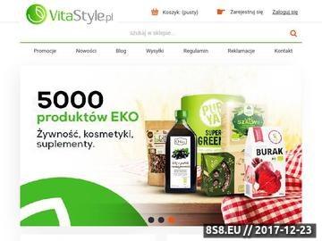Zrzut strony Sklep ekologiczny VitaStyle
