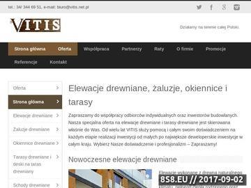 Zrzut strony Vitis.net.pl - okiennice drewniane