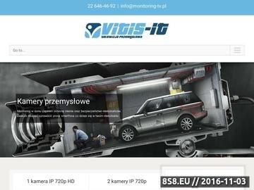 Zrzut strony Vitisit.pl - monitoring, kamery przemysłowe